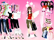clique para juegos Pink Feather Dress Up