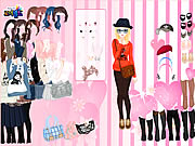 clique para juegos Pink Wallpaper Dress Up