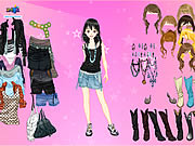 clique para juegos Pink Star Dress Up