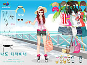 clique para juegos Beach Doll Dress Up