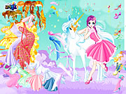 clique para juegos Fairy and the Unicorn Dressup