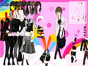 clique para juegos Black and White Dress Up
