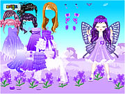 clique para juegos Fairy of March Flower Violet