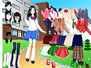 clique para juegos School Girl Dress Up