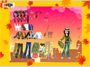 clique para juegos Autumn Post Card Dress Up