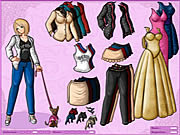 clique para juegos Anime Girl and Dog Dressup