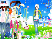 clique para juegos Spring Doll Dress Up