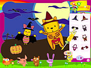 clique para juegos Piglet and Pooh on Halloween