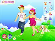 clique para juegos Kids Couple on Field