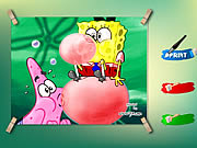 clique para juegos Spongebob And Patrick Coloring Game