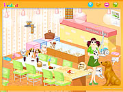 clique para juegos Dog Room Decoration