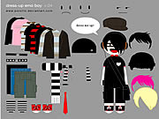 clique para juegos Little Emo Boy Dress Up