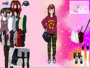 clique para juegos Korean Girl Dress Up