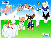 clique para juegos Pet Wedding Dress up