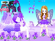 clique para juegos Purple Butterfly Dress up