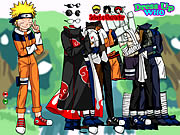 clique para juegos Naruto and Friends Dress Up