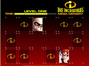 clique para juegos The Incredibles Mega Memory
