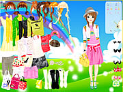 clique para juegos Rainbow Style Dress Up