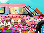clique para juegos Barbie Mini Cooper Car Wash