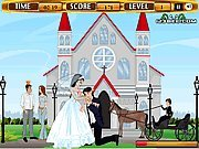 clique para juegos Bride and Groom Kissing