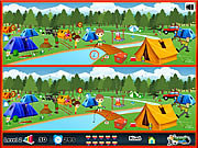 clique para juegos Camping - Spot The Difference
