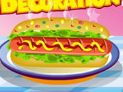clique para juegos Hot Dog Decoration