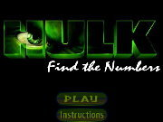 clique para juegos Hulk Find the Numbers