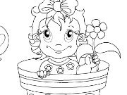 clique para juegos Lovely Flower Baby Coloring