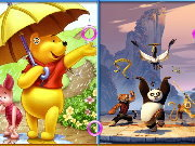 clique para juegos Similarities - Winnie and Panda